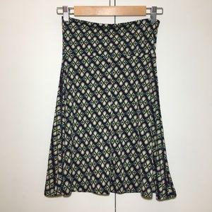Lularoe Colorful Azure Skirt Small Circle Pattern